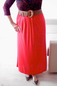 A long red skirt is very bold and exciting! This one 11 Euros from Primark