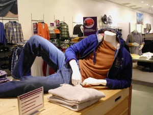 Even the mannequins look like they're modeling.