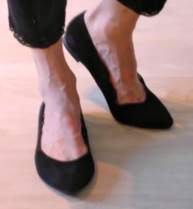 Black leather flats on sale for 5 Euros