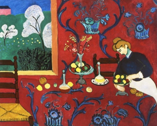 La Desserte, Harmonie Rouge, Matisse, 1908