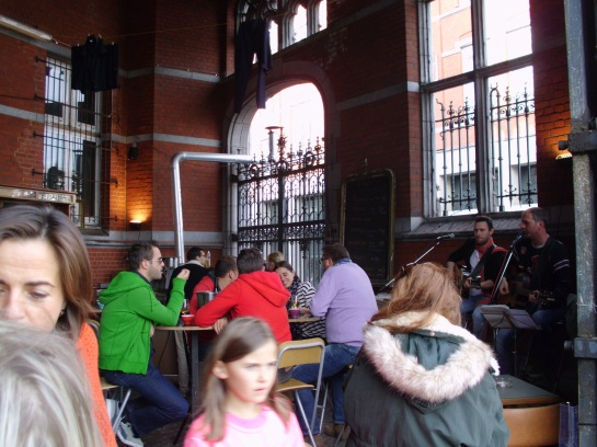 The old Post Office Converted to an open air pub every Sunday.